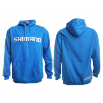 Shimano Collage Hoodie Blue Large