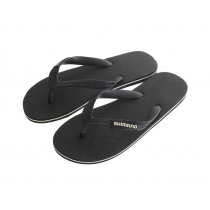 Shimano Black Jandals with White Logo US8