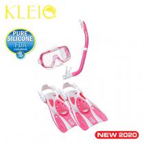 TUSA Sport Mini-Kleio Hyperdry Youth Snorkeling Set Pink S