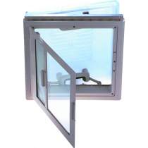 MPK 4-Way Roof Vent with Blind and Flyscreen 400x400mm
