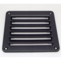 Louvre Vent Black 140x125mm