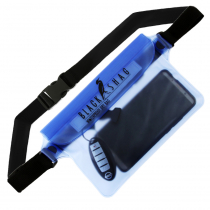 Black Shag Waterproof Belt Bag Blue