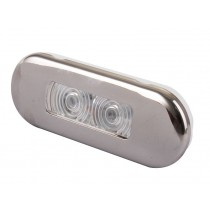 Stainless Waterproof 0.21w LED Courtesy Lights - Oblong