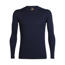 Icebreaker Mens Merino Oasis Long Sleeve Crewe Shirt Midnight Navy