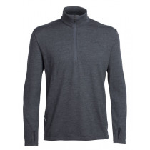 Icebreaker Mens Merino Original Long Sleeve Half Zip Top Jet Heather