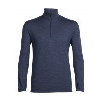 Icebreaker Mens Merino Original Long Sleeve Half Zip Shirt Fathom Heather