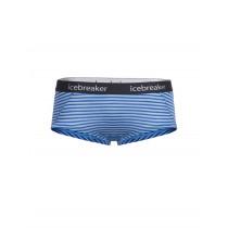 Icebreaker Womens Merino Sprite Hot Pants Mist Blue Heather/Cobalt/Stripe