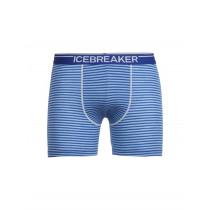 Icebreaker Mens Merino Anatomica Boxers Cobalt/Capri/Stripe