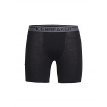 Icebreaker Mens Merino Anatomica Long Boxers Black
