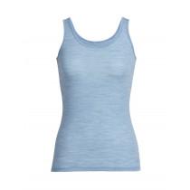 Icebreaker Womens Merino Siren Tank Top Mist Blue Heather