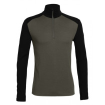Icebreaker Mens Merino Tech Top Long Sleeve Half Zip Top Monsoon/Black
