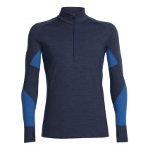 Icebreaker Mens Merino Winter Zone Long Sleeve Half Zip Top Fathom Heather/Pelorus