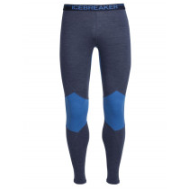 Icebreaker Mens Merino Winter Zone Leggings Fathom Heather/Pelorus/Admiral