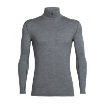 Icebreaker Mens Merino Tech Top Long Sleeve Half Zip Shirt Gritstone Heather