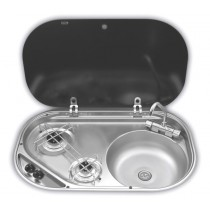 Dometic 2-Burner Gas Hob with RH Sink and Fold Down Tap