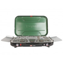 Coleman Even-Temp 3-Burner Stove with Griddle and Hose