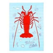 Crayfish Today's Catch Cotton Tea Towel 50 x 70cm