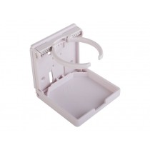 Folding Drink Holder Plastic White