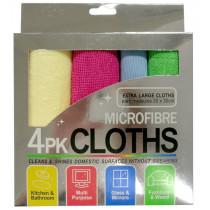 Microfibre Cloth 4-Pack