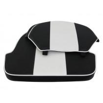 Hi-Tech Upholstery for 3000 Boat Seat Black/White