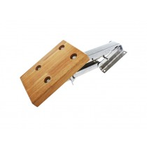 Stainless Outboard Auxiliary Motor Bracket with Plywood Pad for Engine up to 7.5HP