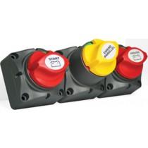 BEP Battery Distribution Cluster Single Engine with 2 Battery Banks and Motorized VSR