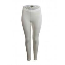 Merino Womens Thermal Leggings Cream Size 18