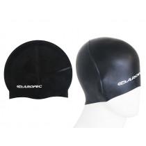 Aropec Adult Silicone Swim Cap Black