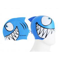 Aropec Kids Silicone Swim Cap Razor Blue