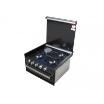 Dometic CU402 3+1 Gas/Electric Hob with Grill and Glass Lid