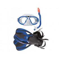 Hammerhead Nipper Kids Mask Snorkel Fins Blue S/M