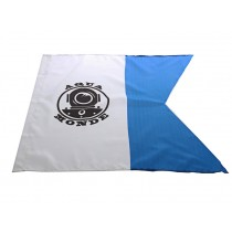 AquaMonde Blue/White Dive Flag with Attachment String 60x60cm