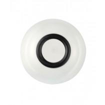 Palm Sorona Unbreakable White Bowl with Black Non-Slip Ring