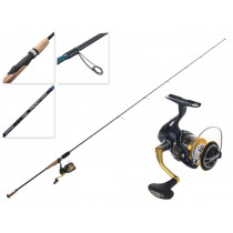 Shimano Nasci C3000FB HG and Energy Concept Micro Jigging Combo 6ft 4in PE1-1.5 1pc