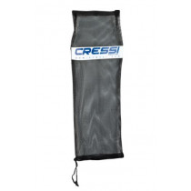 Cressi Drawstring Mesh Bag for Snorkel and Fins Set Black