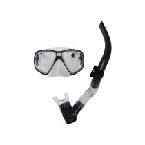 Mirage Carbon Adult Dive Mask and Snorkel Set Clear