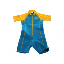 Aropec Kids Neoprene/Lycra Rashguard Wetsuit Turquoise/Yellow Size 10
