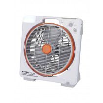 Rechargeable 14in Electric Fan with AM/FM Radio and LED Lamp