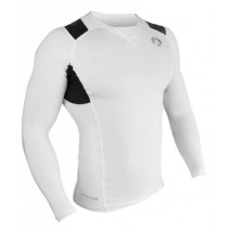Sharkskin Compression R-Series Mens Long Sleeve Top White