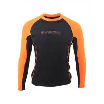 Sharkskin Rapid Dry Long Sleeve Rash Top Black/Orange