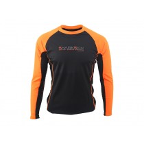 Sharkskin Rapid Dry Long Sleeve Rash Top Black/Orange