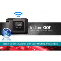 Iridium Go! Unlimited Data Monthly Subscription with 150 Voice Minutes - 125USD/month