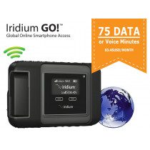 Iridium Go! Monthly Subscription with 75 Data or Voice Minutes - 83.45USD/month