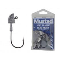Mustad Soft Plastic Lead Jig Heads 4/0 1/2oz Qty 5