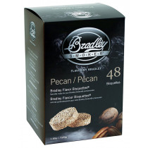 Bradley Smoker Flavoured Bisquettes 48 Pack - Pecan
