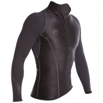 Sharkskin Performance Wear Mens Long Sleeve Top Black XL