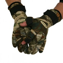 Snowbee Neoprene Flip Finger Camo Gloves
