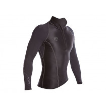 Sharkskin Performance Wear Mens Long Sleeve Rash Top Black