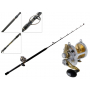 Shimano Talica 25 2-Speed and Tiagra Ultra Stand-Up Roller Tip Game Combo 5ft 4in 50lb 1pc