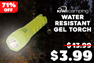 Kiwi Camping Water Resistant Gel Torch Large